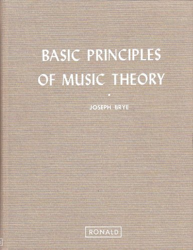 9780471070221: Basic Principles of Music Theory