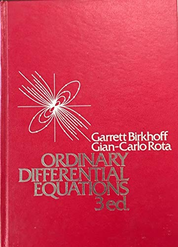 9780471074113: Ordinary Differential Equations