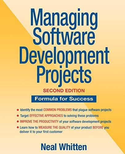 9780471076834: Managing Software 2e: Formula for Success (Computer Science)