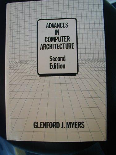 9780471078784: Advances in Computer Architecture