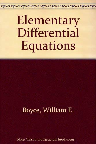 9780471078944: Elementary Differential Equations