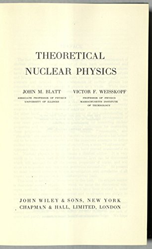 9780471080190: Theoretical Nuclear Physics