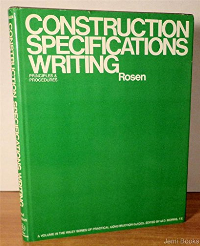 9780471083283: Construction Specifications Writing: Principles and Procedures (Wiley Series of Practical Construction Guides)