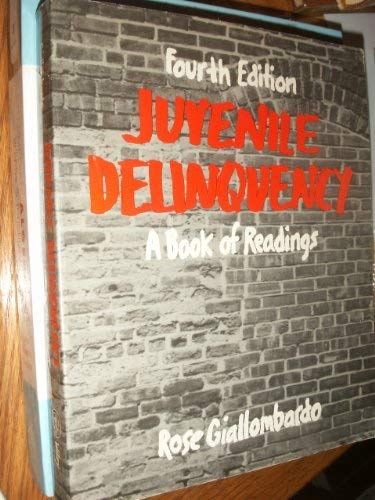 9780471083443: Juvenile Delinquency: A Book of Readings