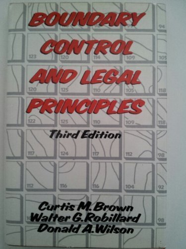 9780471083849: Boundary Control and Legal Principles