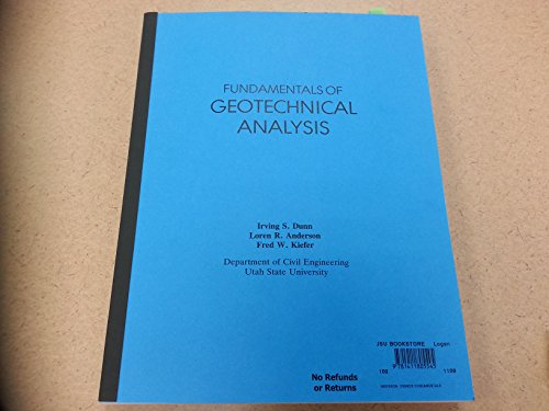 9780471084563: Fundamentals of Geotechnical Analysis