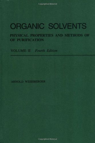 9780471084679: Organic Solvents: Physical Properties and Methods of Purification (Techniques of Chemistry)