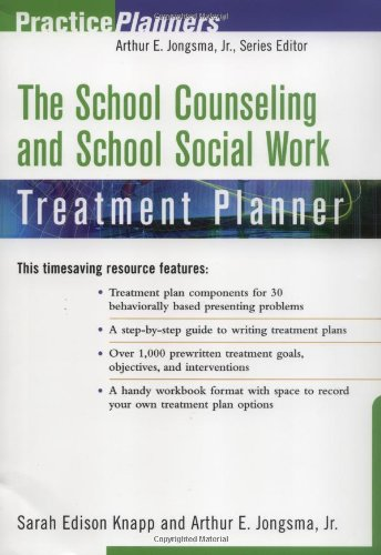 9780471084969: The School Counseling and School Social Work Treatment Planner (PracticePlanners)