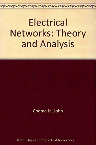 9780471085287: Electrical Networks: Theory and Analysis