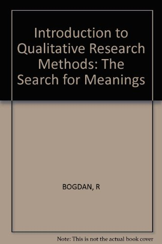9780471085713: Introduction to Qualitative Research Methods: The Search for Meanings