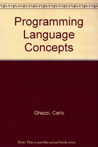 9780471087557: Programming Language Concepts