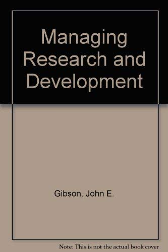 9780471087991: Managing Research and Development