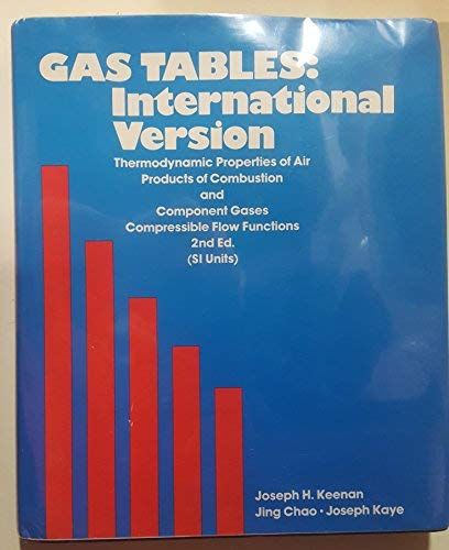 Gas Tables: Thermodynamic Properties of Air Products: Joseph H. Keenan,