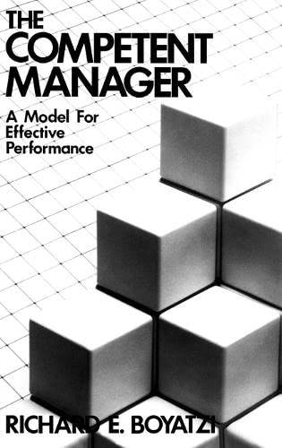 9780471090311: The Competent Manager: A Model for Effective Performance