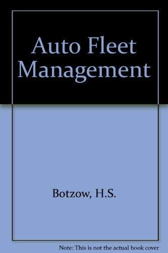 9780471091004: Auto Fleet Management