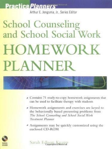 9780471091141: School Counseling and School Social Work Homework Planner