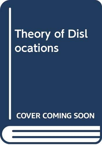 9780471091257: Theory of Dislocations