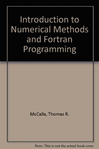 9780471091844: Introduction to Numerical Methods and Fortran Programming