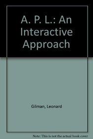 9780471093046: APL: An Interactive Approach