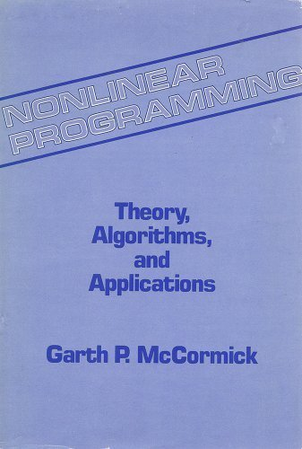 9780471093091: Nonlinear Programming: Theory, Algorithms and Applications
