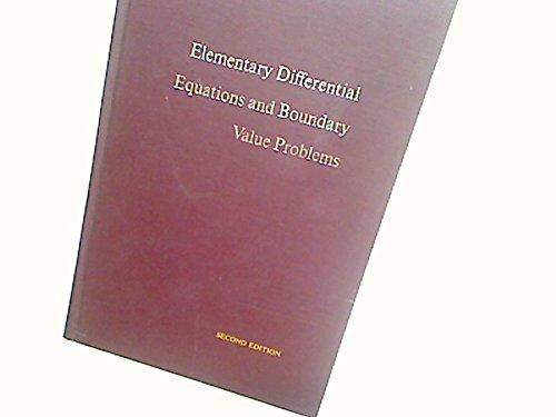 9780471093312: Elementary Differential Equations and Boundary Value Problems, 2nd Edition
