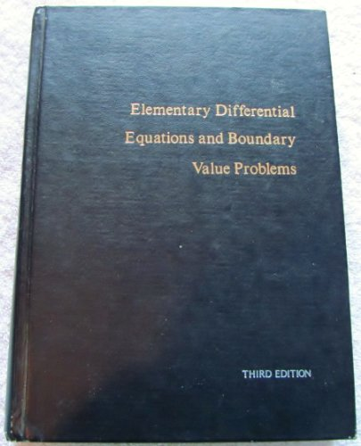 9780471093343: Elementary Differential Equations and Boundary Value Problems