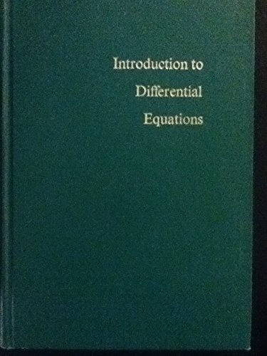 Introduction to Differential Equations: Boyce, William E.,