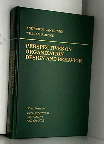 9780471093589: Perspectives on Organization Design and Behavior (Wiley series on organizational assessment & change)
