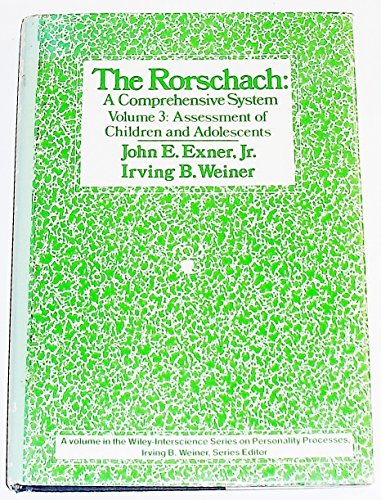 9780471093640: The Rorschach: Assessment of Children and Adolescents v. 3: A Comprehensive System