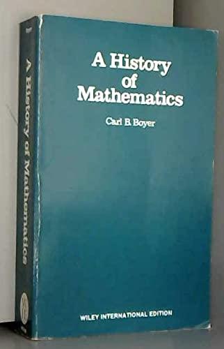 9780471093732: A Boyer History of Mathematics (Open University Title)