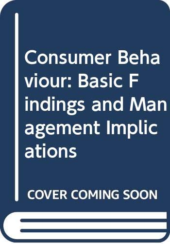 9780471094289: Consumer Behaviour: Basic Findings and Management Implications