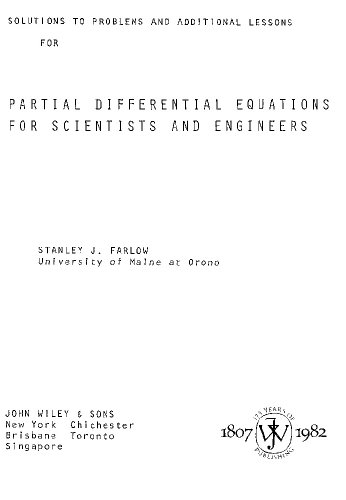 9780471095828: Partial Differential Equations for Scientists and Engineers, Solutions Manual