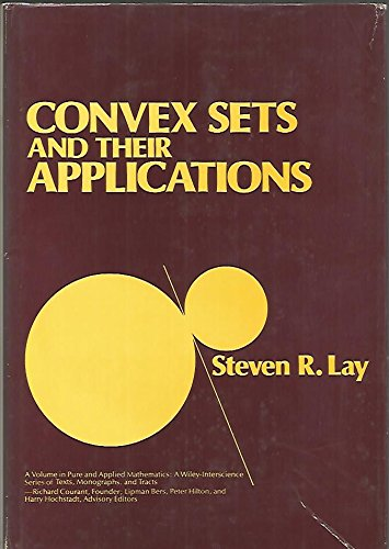 9780471095842: Convex Sets and Their Applications (Pure and applied mathematics)
