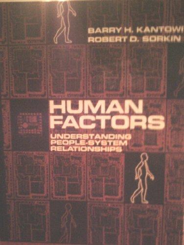 9780471095941: Human Factors: Understanding People-System Relationships