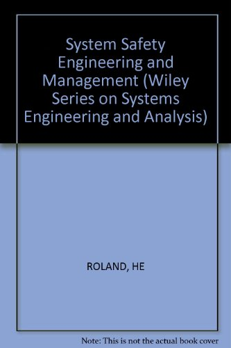 9780471096955: System Safety Engineering and Management (Wiley series on systems engineering & analysis)