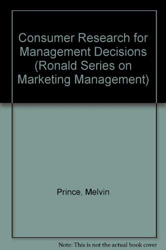 9780471097150: Consumer Research for Management Decisions (Wiley Series on Marketing Management)