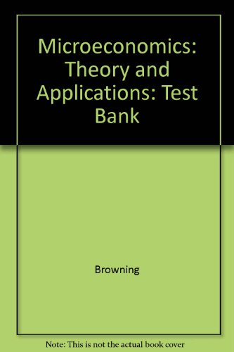 9780471097396: Microeconomics: Theory and Applications: Test Bank