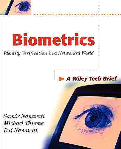 9780471099451: Biometrics: Identity Verification in a Networked World