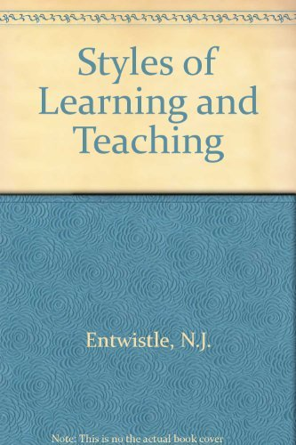 Styles of Learning and Teaching: Integrated Outline of Educational Psychology for Students, ...