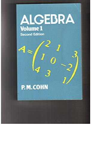 9780471101697: Algebra. Volume 1. Second Edition
