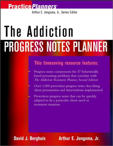 9780471103301: The Addiction Progress Notes Planner (PracticePlanners)