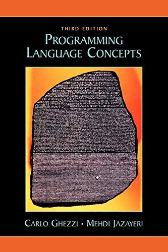9780471104261: Programming Language Concepts