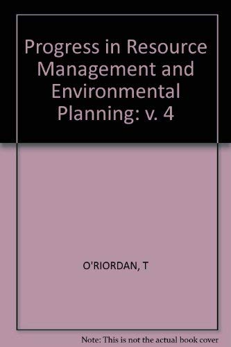 9780471105343: Progress in Resource Management and Environmental Planning: v. 4 (Progress in Resource Management & Environmental Planning)