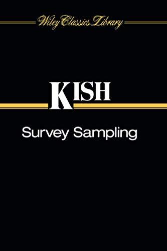 Survey Sampling: Kish, Leslie