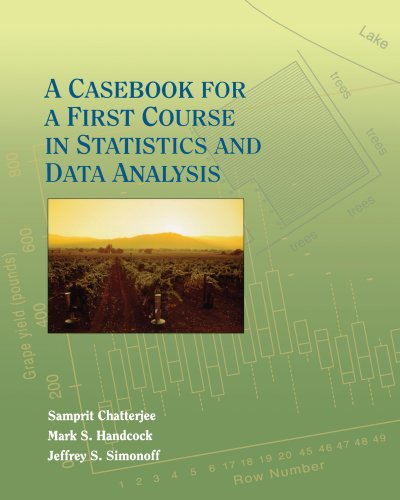 9780471110309: A Casebook for a First Course in Statistics and Data Analysis