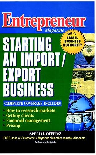 9780471110583: Entrepreneur Magazine: Starting an Import / Export Business