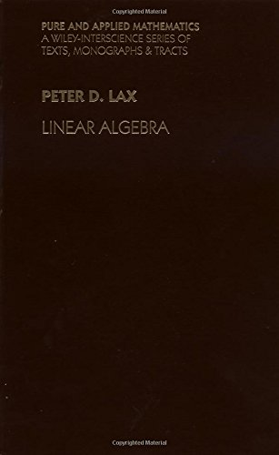 9780471111115: Linear Algebra. Pure and Applied Mathematics