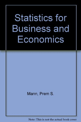 9780471111528: Statistics for Business and Economics