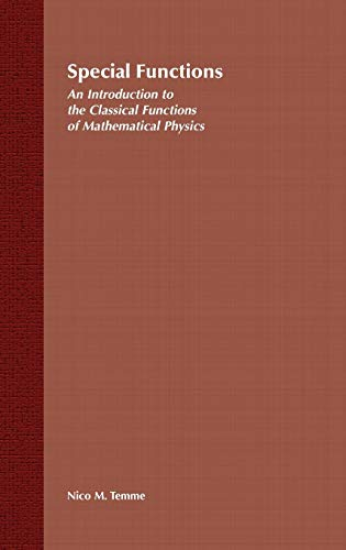 9780471113133: Special Functions: An Introduction to the Classical Functions of Mathematical Physics