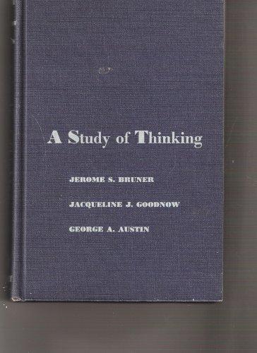 9780471114154: Study of Thinking